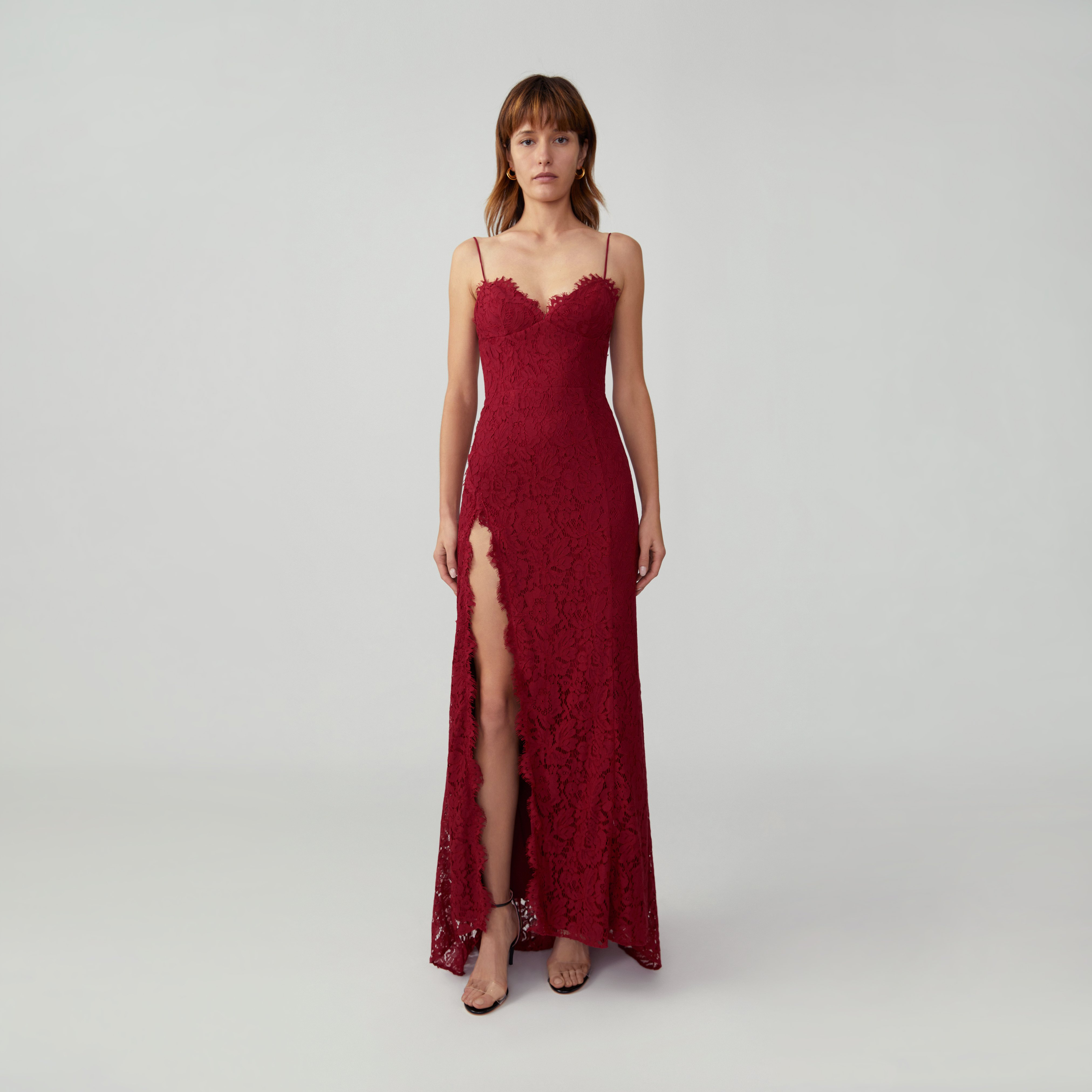 Fame and Partners Corded Lace Gown